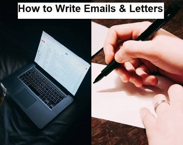 How to Write Emails & Letters - Image of a laptop and someone handwriting a letter