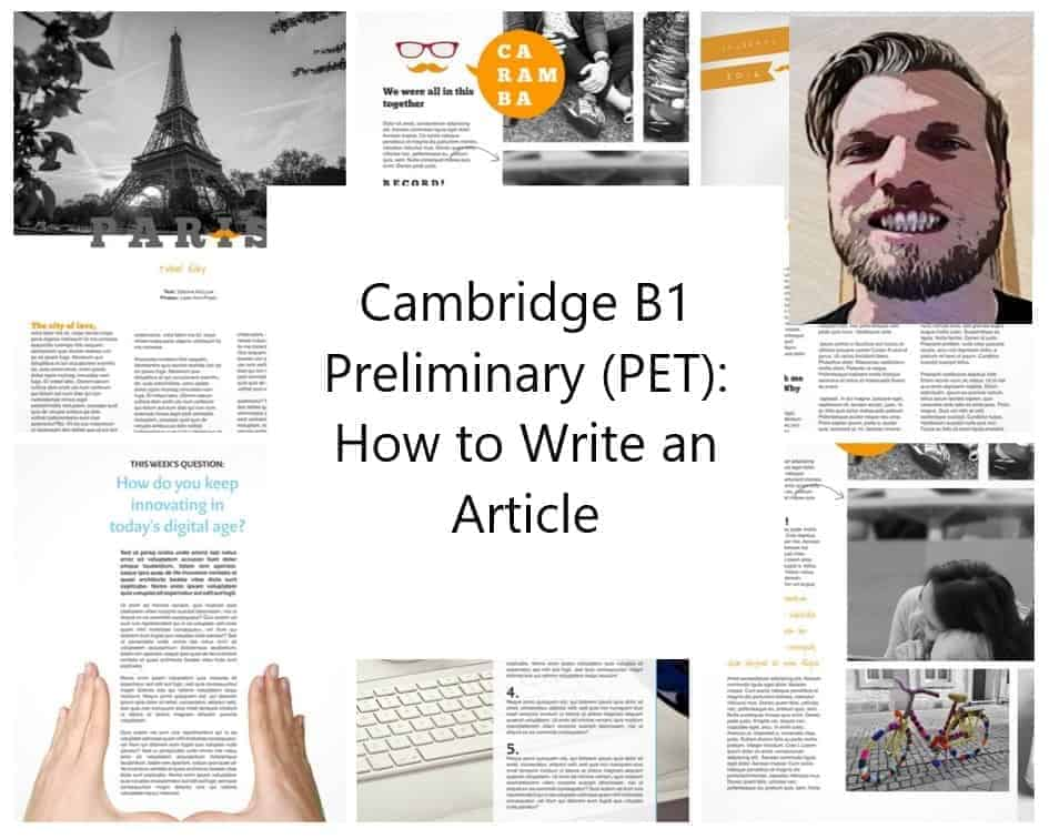 Cambridge B1 Preliminary (PET) - How to Write an Article