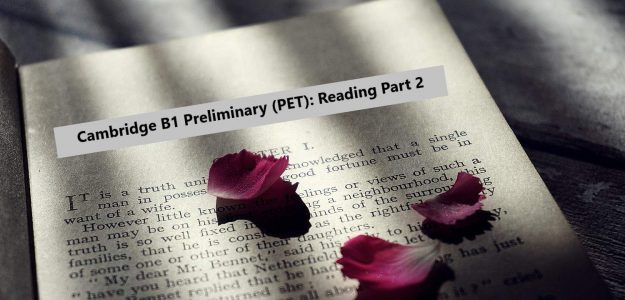 PET Reading Part 2