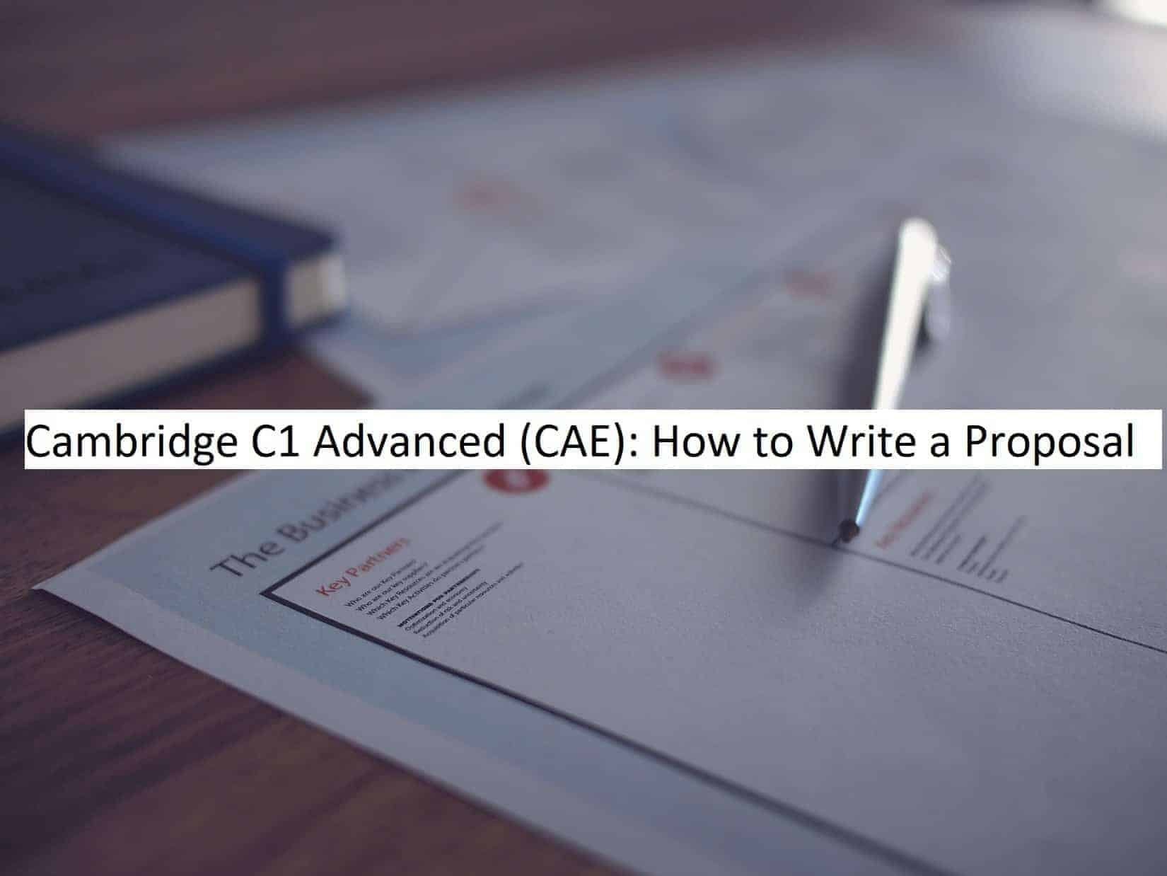 CAE - Writing a Proposal
