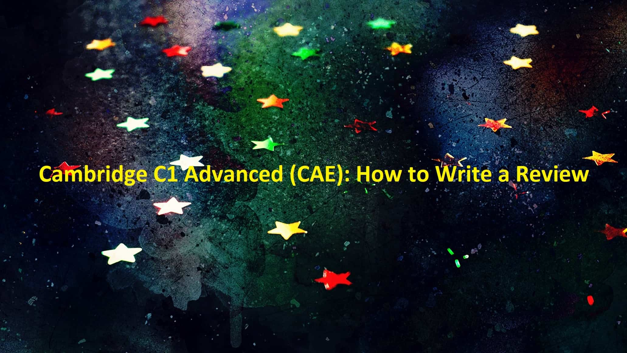 C1 Advanced - How to Write a Review